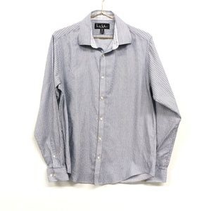 Nicole Miller Shirts - Nicole Miller Striped Blue Button Down